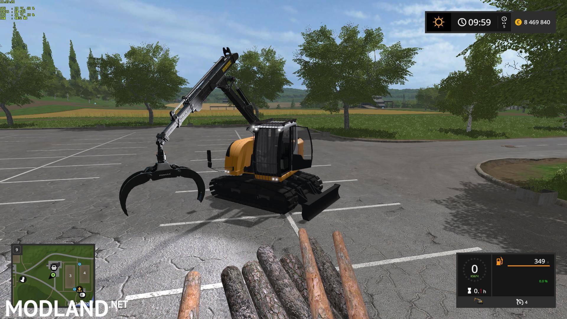 LIEBHERR 914CF v 1.1 mod Farming Simulator 17