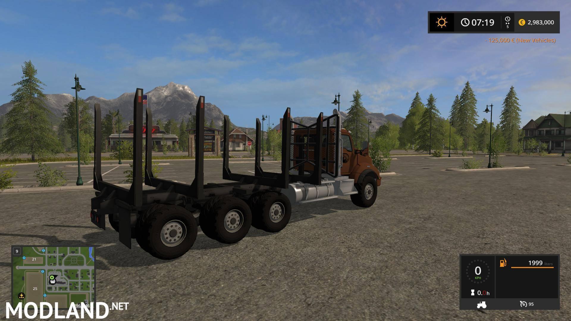 Logging Truck Fixed Bunk v 1.0 mod Farming Simulator 17
