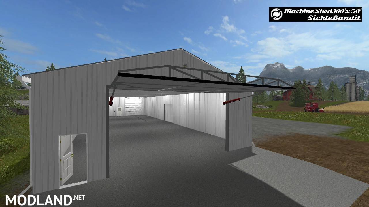 Machine shed 100x50 functional v 1 0 mod farming for Equipment shed