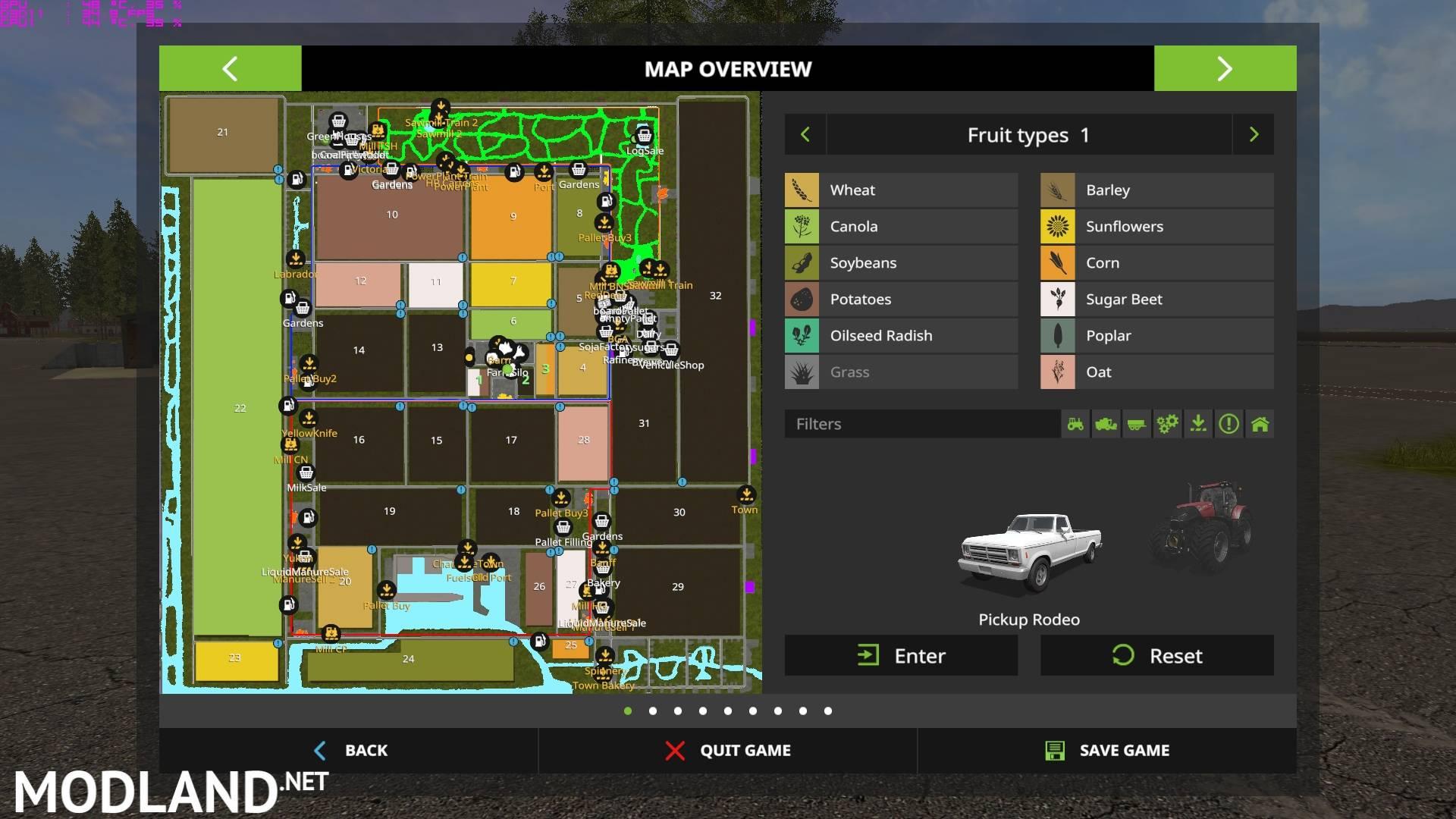 Canadian Prairies V11 mod Farming Simulator 17