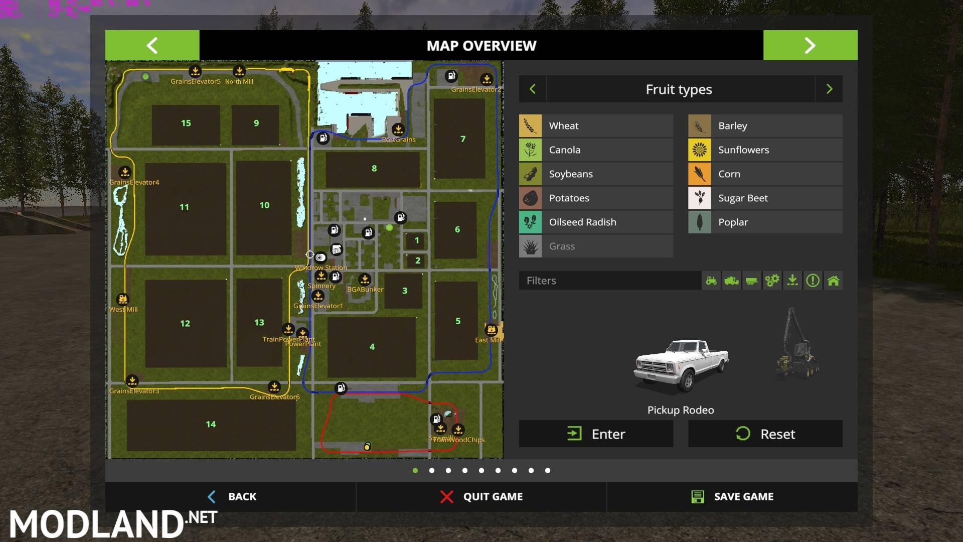 Canadian National V2 mod Farming Simulator 17
