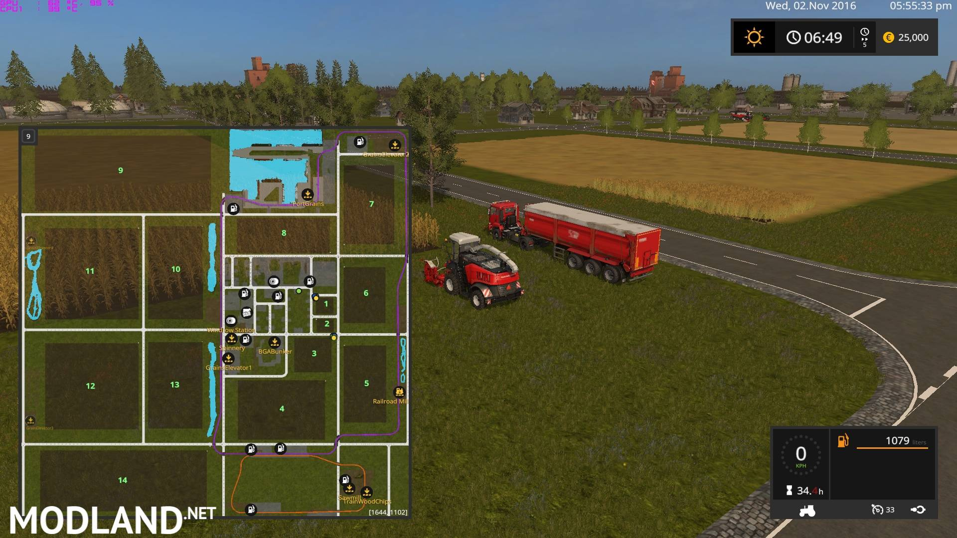 FS Canadian National Map Mod Farming Simulator - Fs 17 us map