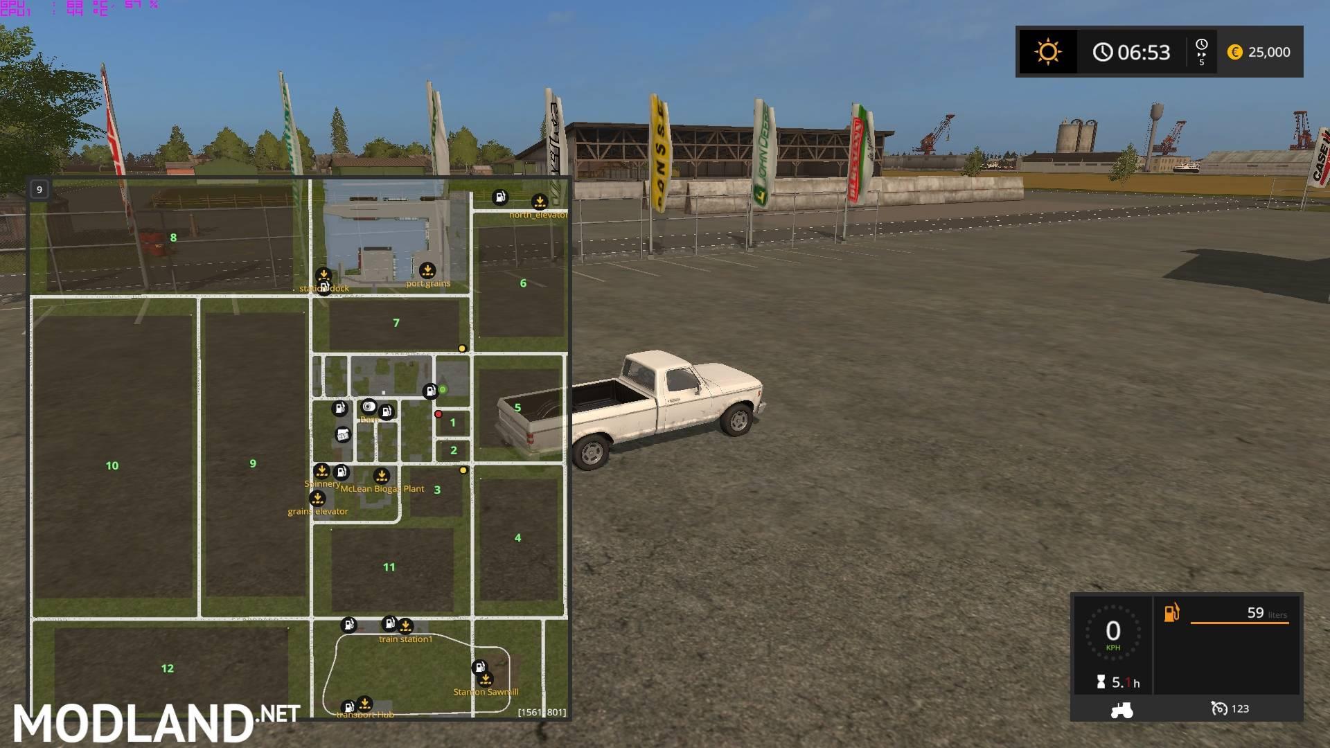LS Plain Simple Map Mod Farming Simulator - Us map mod fs 17