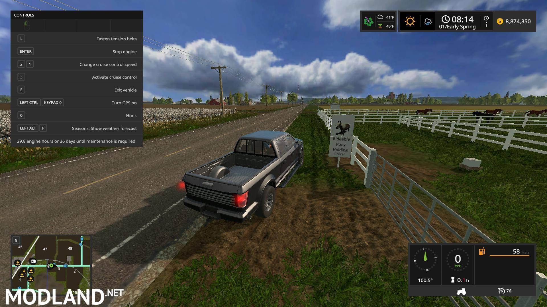 FS17 BATES CASS COUNTY USA Map v 7.0 mod Farming Simulator 17