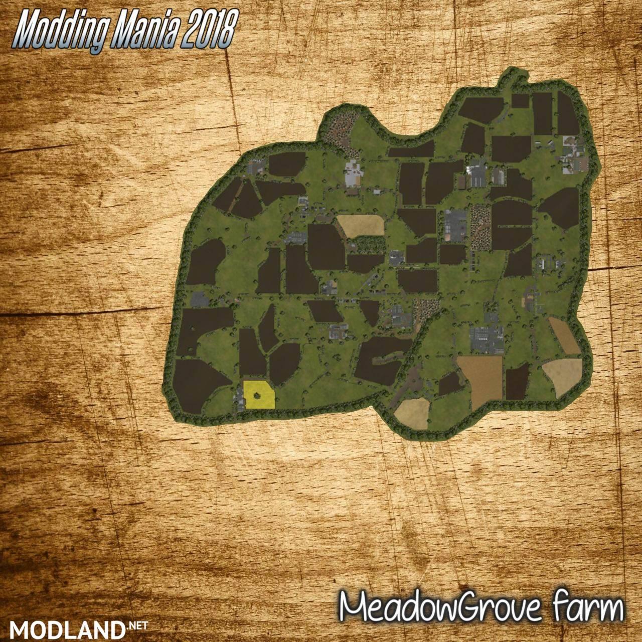 meadow grove farm map   mod farming simulator