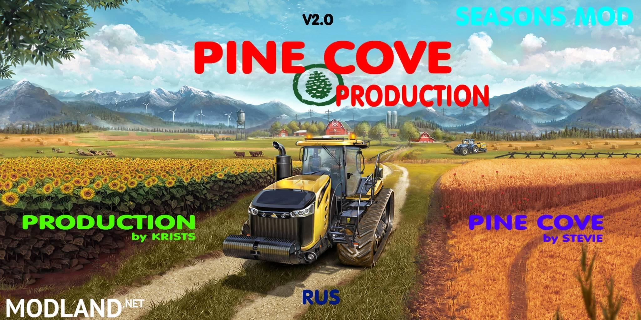 Pine Cove Production RUS v 2.0 mod Farming Simulator 17