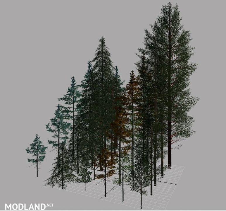 FS19 Logging Trees for map building