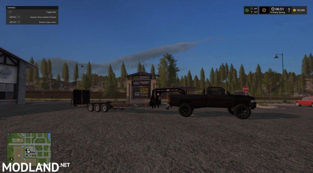 Duramaxs gooseneck load trail trailer