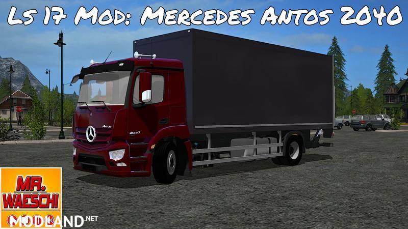 Mercedes Benz Antos 2040 case with accessories