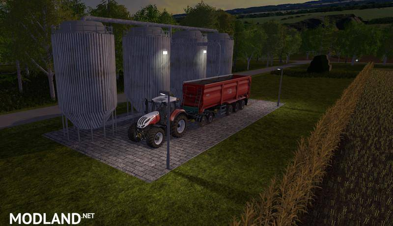Placeable temporary storage silos