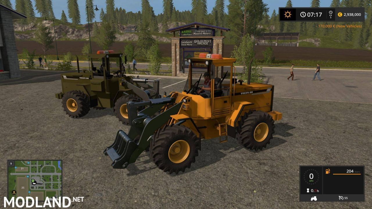 Volvo L90C Military Green and Yellow