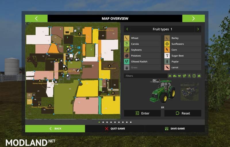 MidWest USA Map V MultiFruit Mod Farming Simulator - Usa map midwest