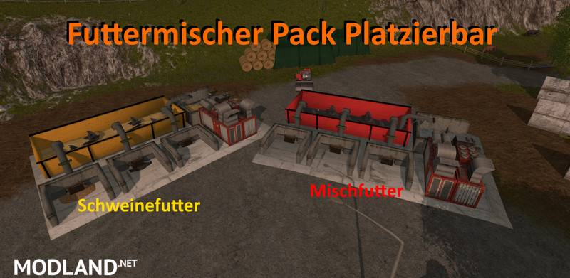 Feed Mixer Pack Placeable v 1.0 mod Farming Simulator 17