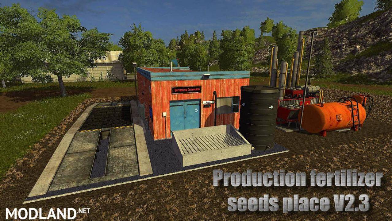 Production fertilizer seeds place
