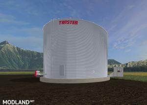 Twister placeable pellet bin