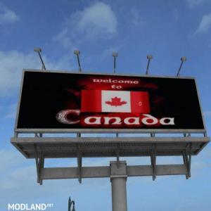 FS17 Canada Welcome Billboard