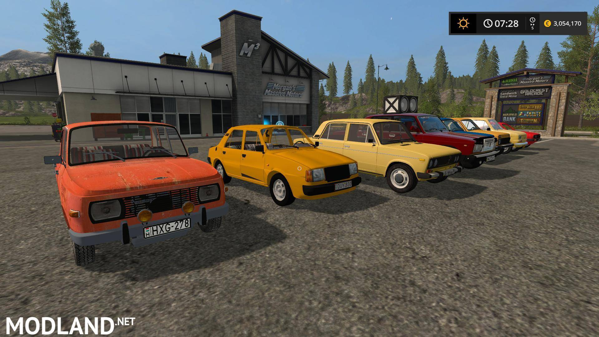 Old Car Pack v 1.0 mod Farming Simulator 17