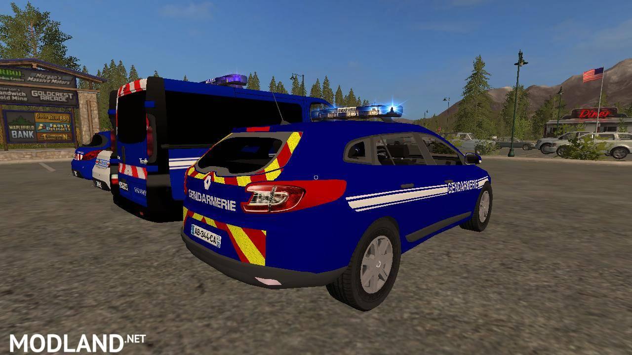 Pack Gendarmerie - Police mod Farming Simulator 17