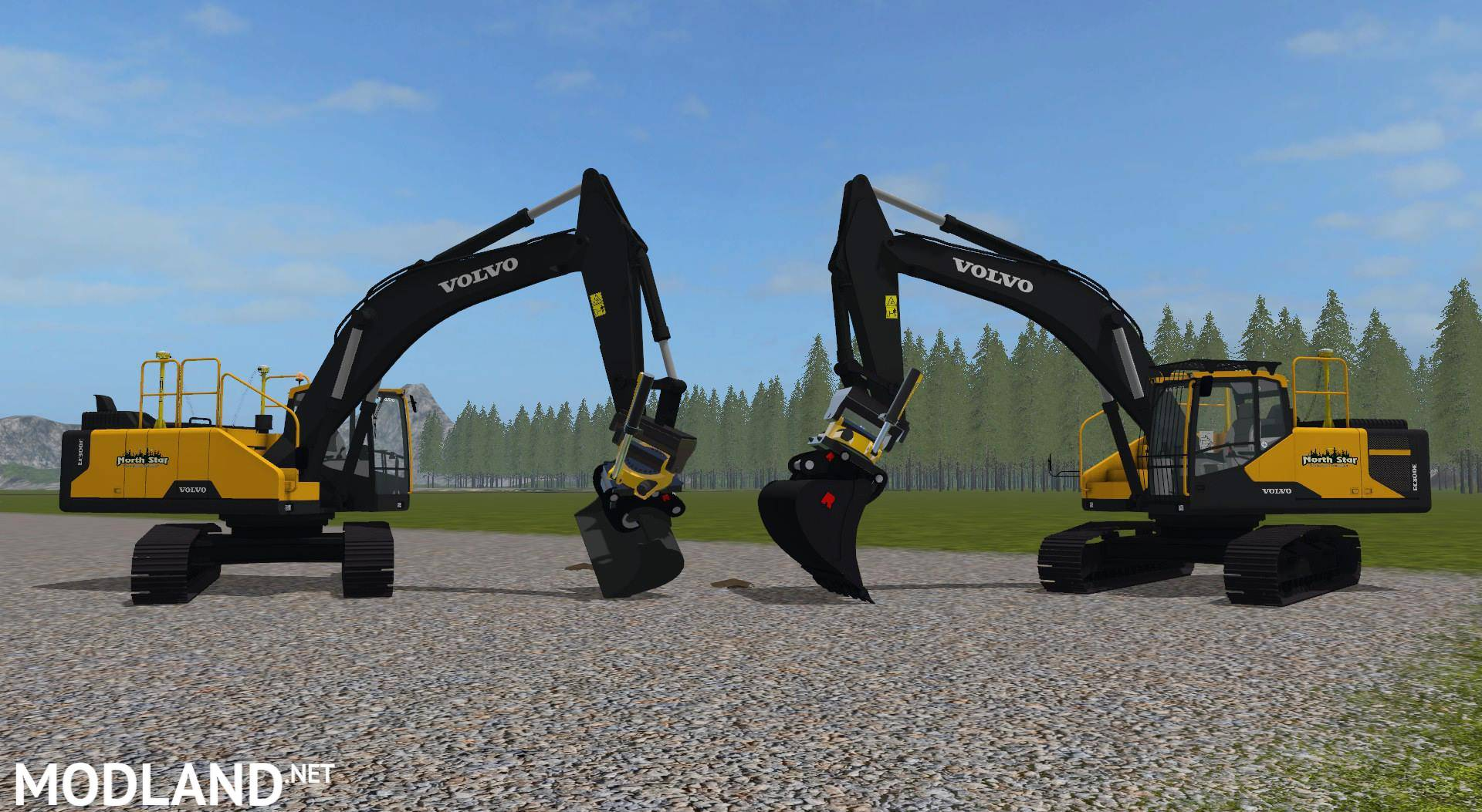 NSLC Volvo EC300 with Buckets mod Farming Simulator 17