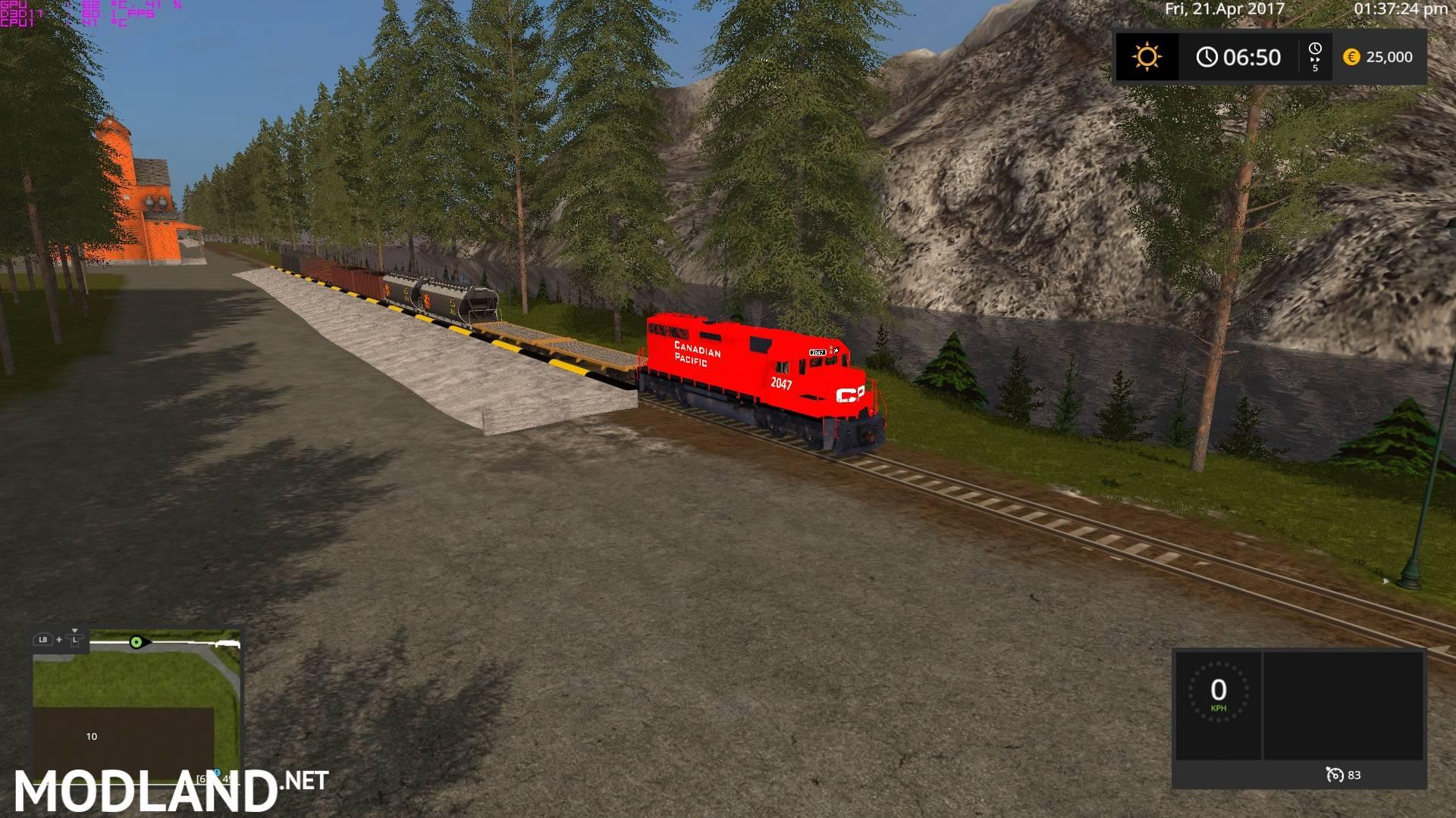 Canadian Pacific Trains Pack mod Farming Simulator 17