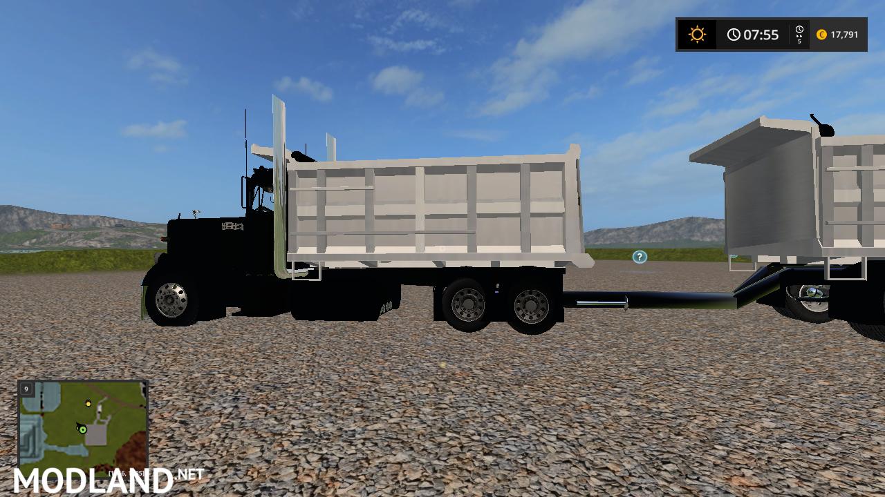 custom peterbilt dump truck and matching pup trailer mod ...