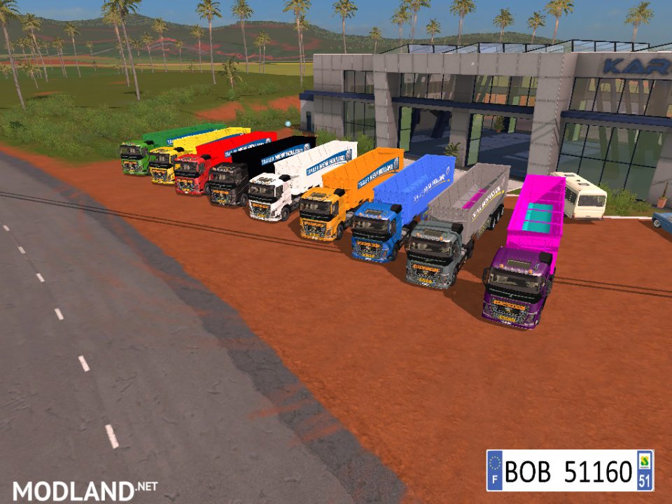 9 TRAILERS NEW HOLLAND COLORS BY BOB51160.