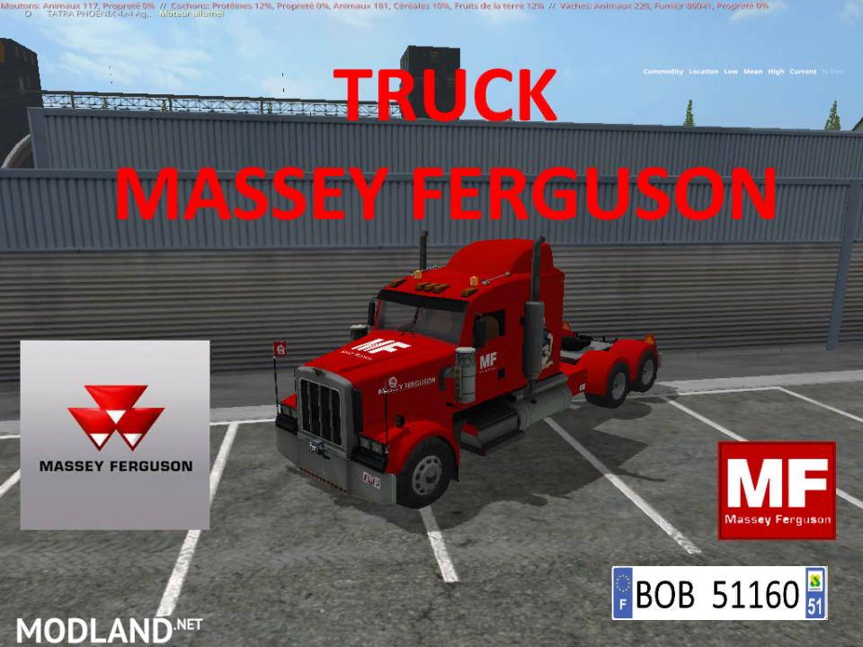 PACK TRUCK + 3 TRAILERS MASSEY FERGUSON BY BOB51160