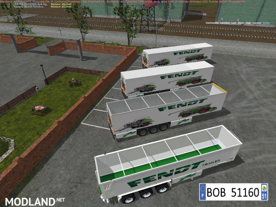 PACK 2 TRAILERS FENDT 4 IN 2 BY BOB51160