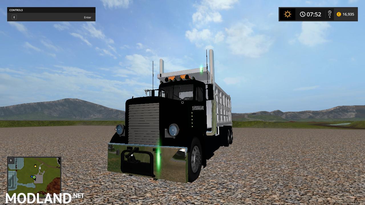 custom peterbilt dump truck and matching pup trailer