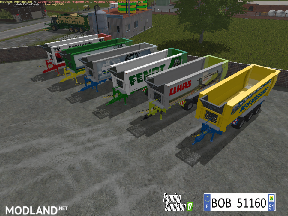 Pack 6 Trailers by BOB51160
