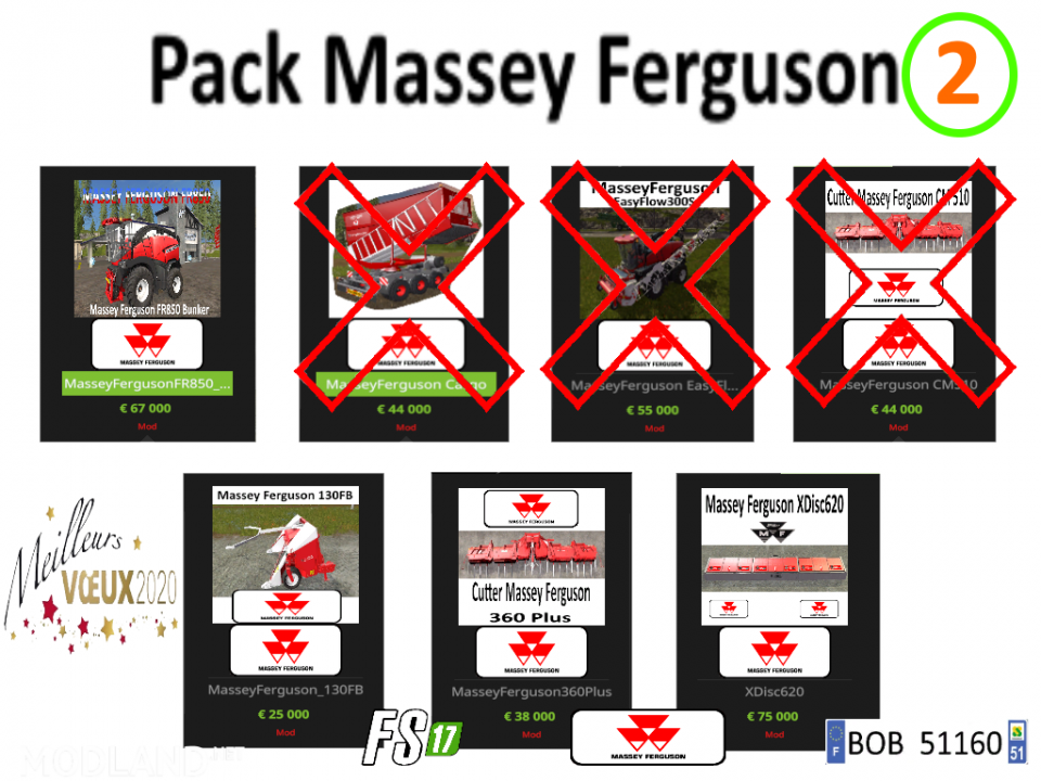 FS 17 Pack2 Massey Ferguson by BOB51160