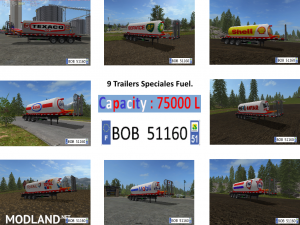 Packs 8 Trailers Fuel BY BOB51160