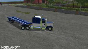 Peterbilt 388 Truck and Manic Flatbed Trailer, 4 photo