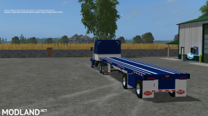 Peterbilt 388 Truck and Manic Flatbed Trailer, 3 photo