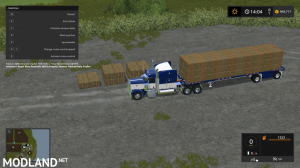 Peterbilt 388 Truck and Manic Flatbed Trailer, 2 photo