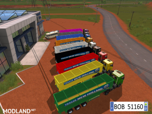 9 TRAILERS NEW HOLLAND COLORS BY BOB51160., 9 photo