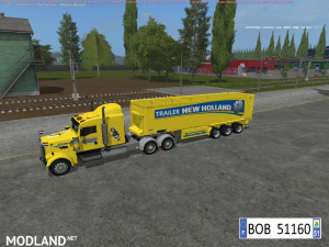TRUCK + TRAILER YELLOW NEW HOLLAND BY BOB51160, 3 photo