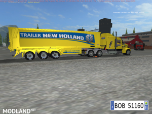 TRUCK + TRAILER YELLOW NEW HOLLAND BY BOB51160, 5 photo