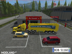 TRUCK + TRAILER YELLOW NEW HOLLAND BY BOB51160, 4 photo