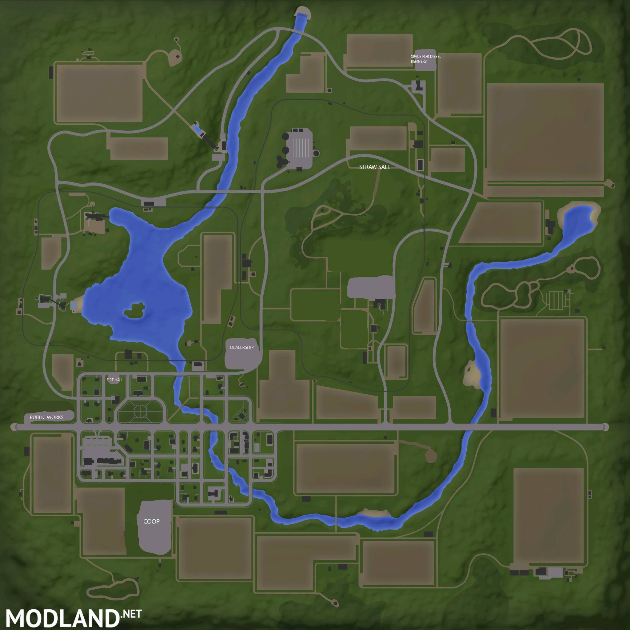 Midwest USA Map V  Mod Farming Simulator - Map of usa for sale