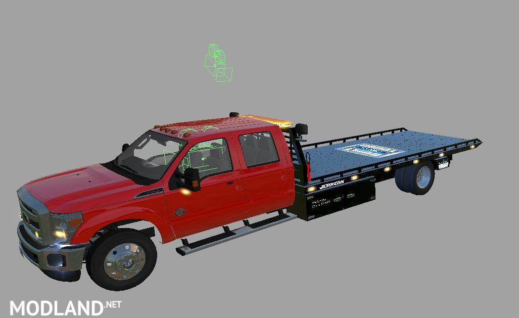 Red f350 rollback v 1.1 mod Farming Simulator 17