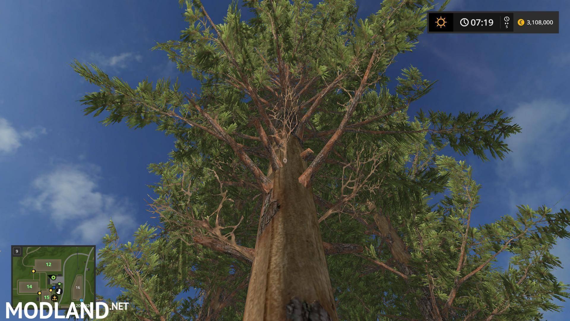 Tall Pine Trees V 1.0 Mod Farming Simulator 17