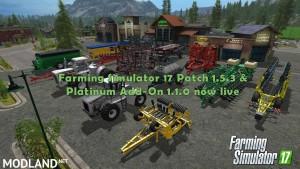 FS17 Patch v1.5.3 & Platinum Add-On v 1.1