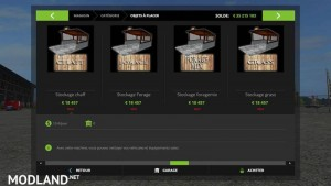Modules Stockage Placeable FS 17 v 1.2, 12 photo