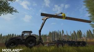 PONSSE Rear Mounted Crane + Lifting Hook Crane v 1.4, 7 photo