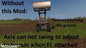 Swinging Axle with Frontloader (Axle Lock remover) v 1.0