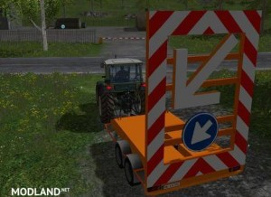 Traffic safety trailer (VSA) with a lighting v 1.0
