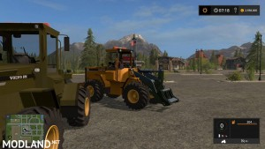 Volvo L90C Military Green and Yellow v 1.0, 6 photo