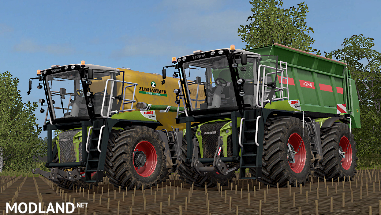 claas xerion 4000 saddle trac full pack mod farming