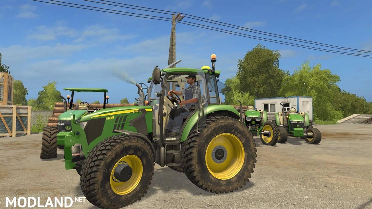 Tractor Challenger 377 : John deere serie m v mod farming simulator